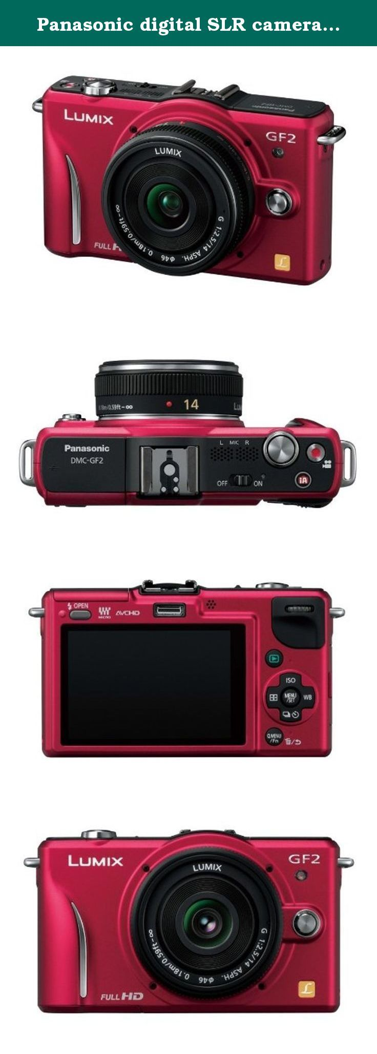 Panasonic digital SLR camera GF2 kit lens (14mm / F2.5 pancake lens included) full high-definition movie SLR Fine Red DMC-GF2 CR. Japanese Menu Only.