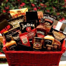 Barbecue Gift with Jack Daniels + Jim Beam Snacks and BBQ Sauces