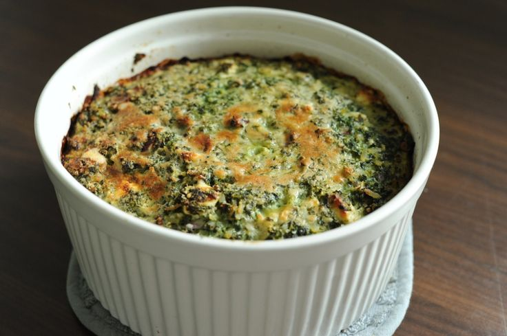 Spinach, feta and brown rice casserole | food | Pinterest