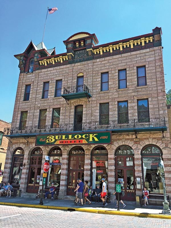 In 1895, Sheriff Seth Bullock expanded his interests in the Black Hills boomtown of Deadwood, South Dakota, with his first-class Bullock Hotel; today, it has been fully restored to its renowned elegance.