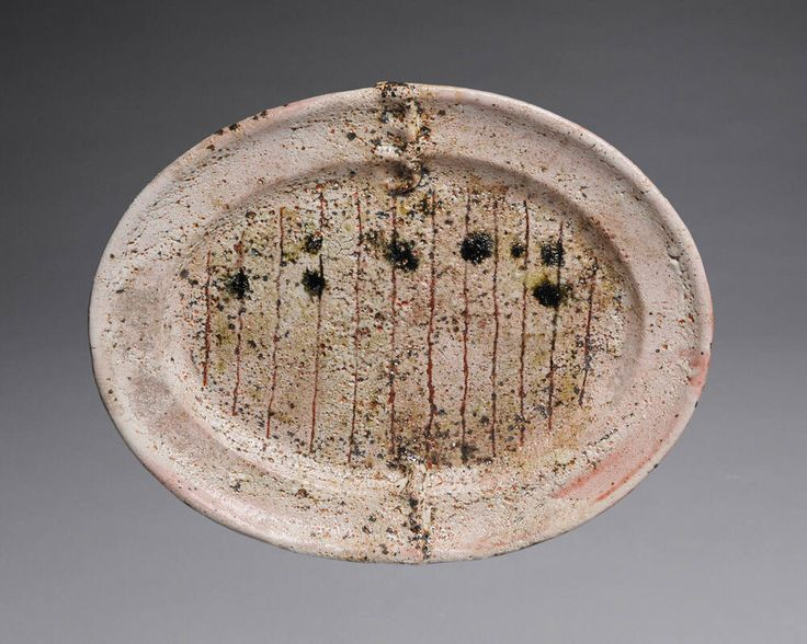 HANS VANGSO Large Platter, Pink with Lines