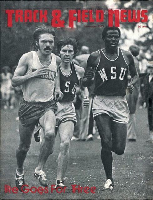 Track and Field News cover, November 1973: Steve Prefontaine wins the PAC-8 cross country championship, at the Stanford Golf Course in Palo Alto, CA, November 10, 1973   Flickr - Photo Sharing!