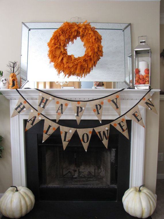 Happy Halloween Burlap Banner/Bunting...have 1 from Target this yr...doing this decor next yr!