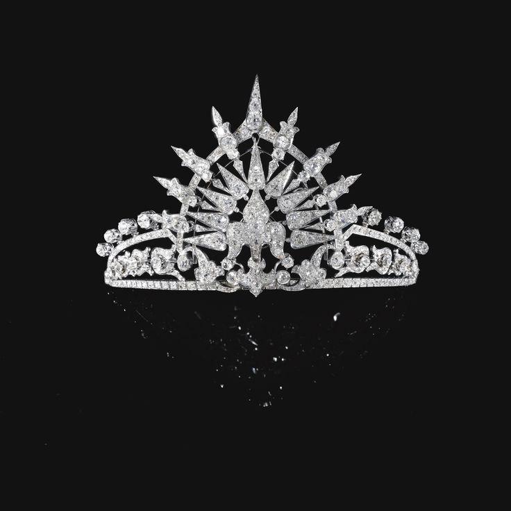 Diadema de diamantes de la Infanta Paz de España, princesa de Baviera