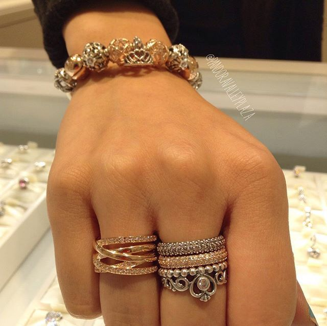 17 Best Ideas About Pandora Rings Stacked On Pinterest