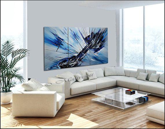 Collection Largeartwork - décorer votre maison ou bureau avec original, grand, abstrait, à l'huile et acryliques peintures créées par le célèbre artiste de Dallas, au Texas Maitreyii.  SUR CE TABLEAU :  Le Placide, nettoyer, rafraîchissant, et au look moderne et une profondeur visuelle de cette belle pièce, dans les tons blanc à dominante bleus et pétillants, invitent l'esprit et le corps de respirer dans et hors l'effet revitalisant de palette situer à pont de lumière comme le point focal…