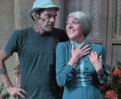 Seu Madruma (Ramón Valdés) e Dona Clotilde (Angelines Fernández).