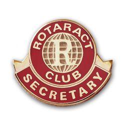 Russell-Hampton Co. Rotary Club Supplies: Rotaract Secretary Lapel Pin