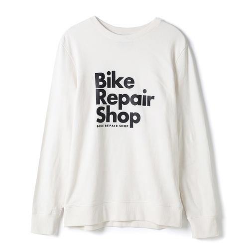 로고 그래픽 맨투맨 화이트 티셔츠