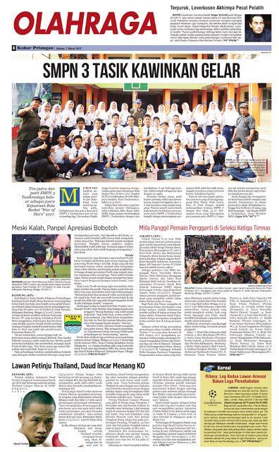 Layout Kabar Priangan Halaman Olahraga, Selasa 7 Maret 2017 | LAYOUT KABAR PRIANGAN