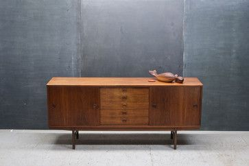 Vintage Danish Teak Buffet Credenza Buffets And