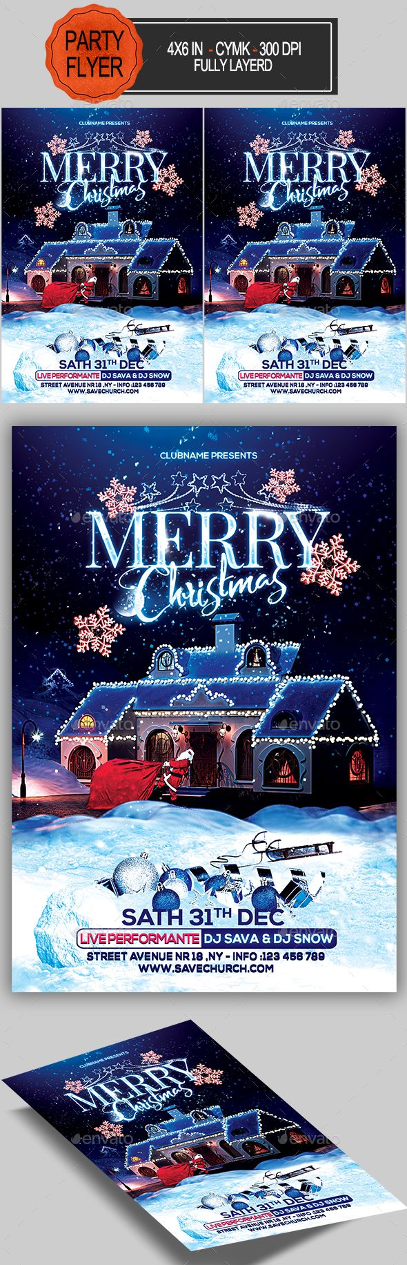 Merry #Christmas Flyer - Holidays Events