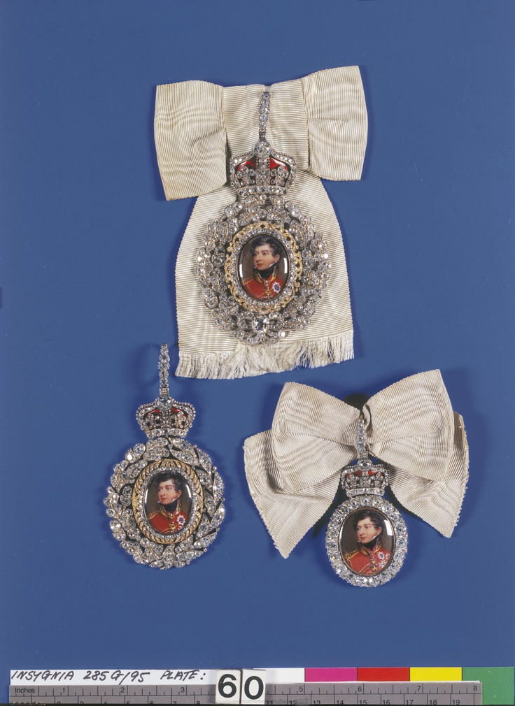 Family Order of King George IV. Badge. Originally belonged to Charlotte, Queen of Württemberg Henry Bone (1755-1834) (artist) c.1820-30