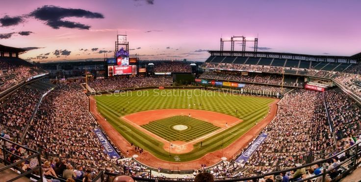 Coors Field, Denver CO - Seating Chart View - We have Tickets to all Rockies Games!!
