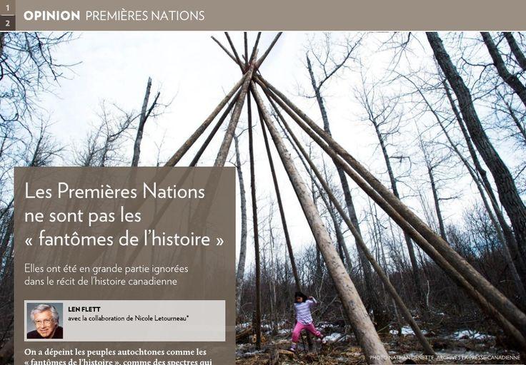 On a dépeint les peuples autochtones comme les «fantômes de l'histoire», comme des spectres qui subsistent en arrière-plan de notre patrimoine et le hantent.-