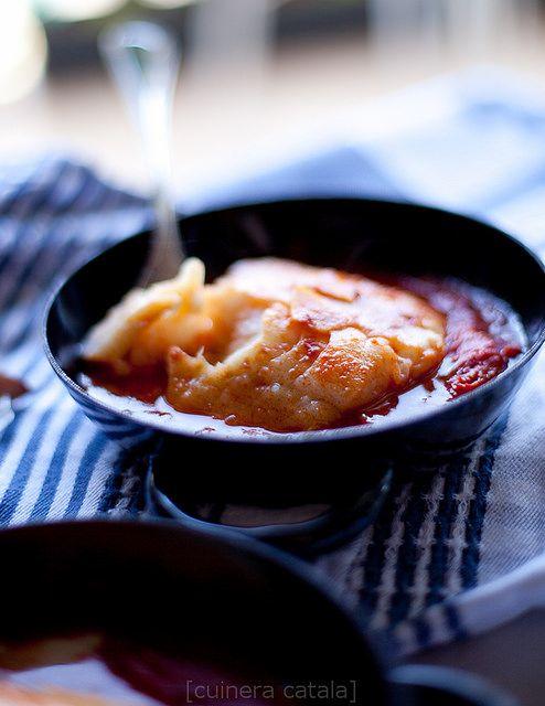 Bacalao con pimientos - Треска с красным перцем