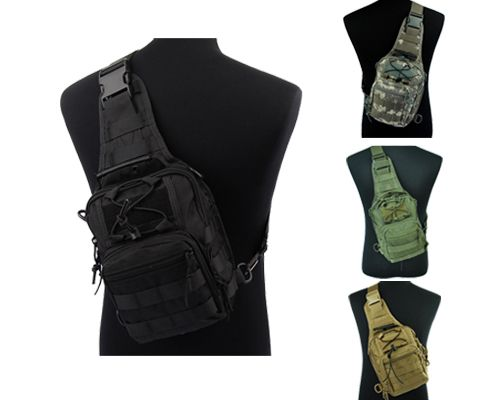 Airsoft 1000D Molle Tactical Outdoor 3-Way Small Pouch Backpack Bag
