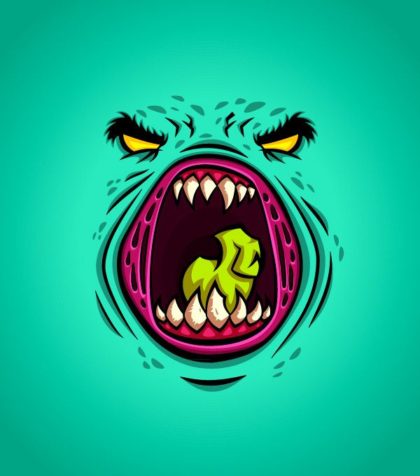 MONSTER FACES #2 by Daniel Ferenčak, via Behance