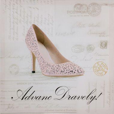 Obraz Diamond Shoe I, 40x40cm