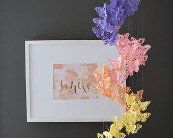 Spiraal Paper Butterfly mobiele kroonluchter door TrueLoveAndPaper