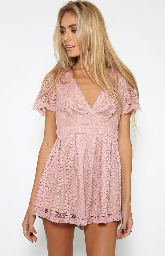 The Eve Playsuit - Pink