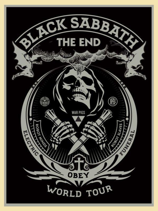 Shepard Fairey Black Sabbath The End Tour Posters Release