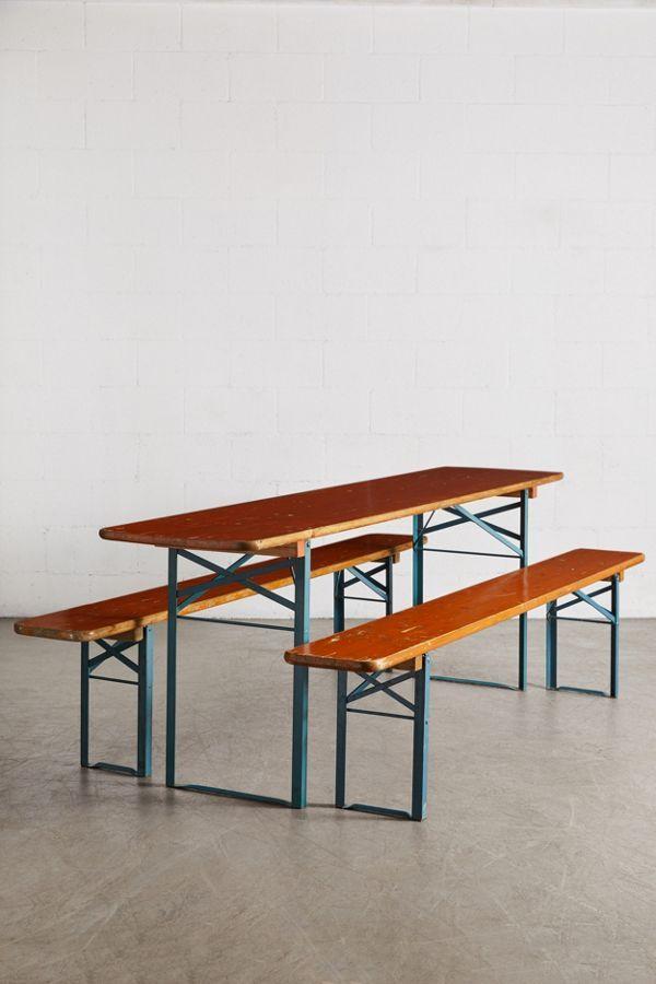 Urban Renewal Vintage Beer Garden Picnic Table Bench Set Picnic Table Bench Bench Table Bench Set
