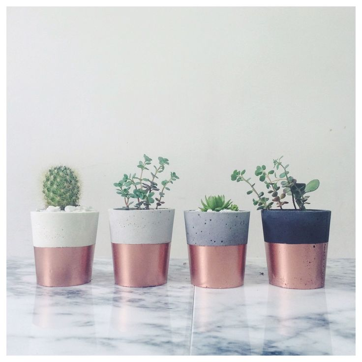 Copper dipped concrete pots - SORT cement london by sortcement on Etsy https://www.etsy.com/listing/225135723/copper-dipped-concrete-pots-sort-cement