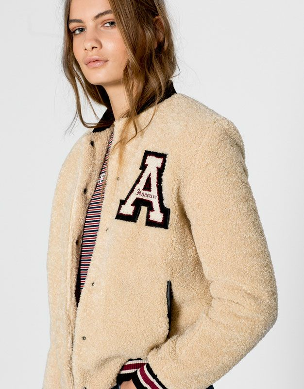 Pull&Bear - woman - back to school - fur bomber jacket - ice…