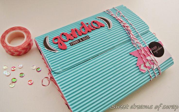 sweet dreams of scrap: Quiero ser DT de Cuquicosas!. Mini album portada papel arrugado