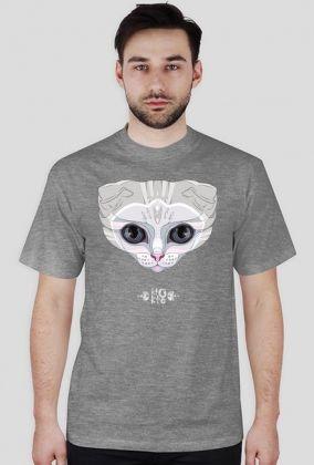 print on men's t-shirt, scottish fold, cat