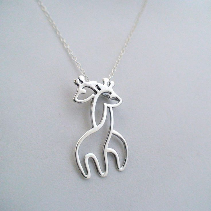 FashionJunkie4Life - Sterling Silver Hugging Giraffe Necklace