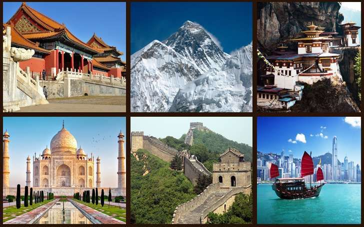 10 best places to visit before you die(Great Wall of China, Disneyland in Tokyo,Thailand's Floating Market, The Great Himalayas, Taj Mahal, Mount Tai Tai'an, Forbidden City in China , Emerald Buddha, HongKong-Victoria Peak and Temple of Heaven)