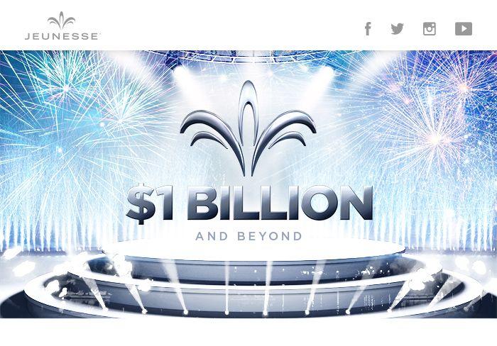 Was bedeutet 1 Milliarde? Hätten Sie gewusst, dass 1 Milliarde Sekunden etwas 31,7 Jahre in menschlicher Zeit gemessen sind? Wohl eher nicht, oder? 1 Milliarde ist eine unglaubliche Zahl und umso beachtlicher ist es dann wenn man als Unternehmen in seinem sechsten Geschäftsjahr diese magische Zahl als Umsatz erreicht. 1 Milliarde Umsatz – Jeunesse Global 1,1...