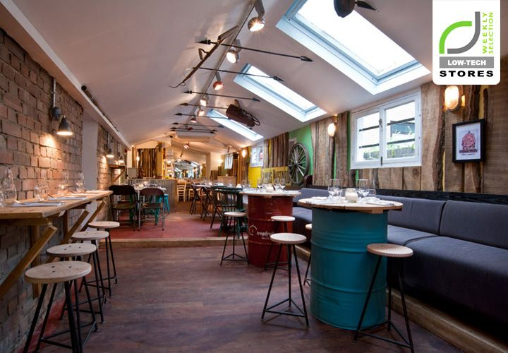 LOW TECH DESIGN! The Shed restaurant, London hotels and restaurants