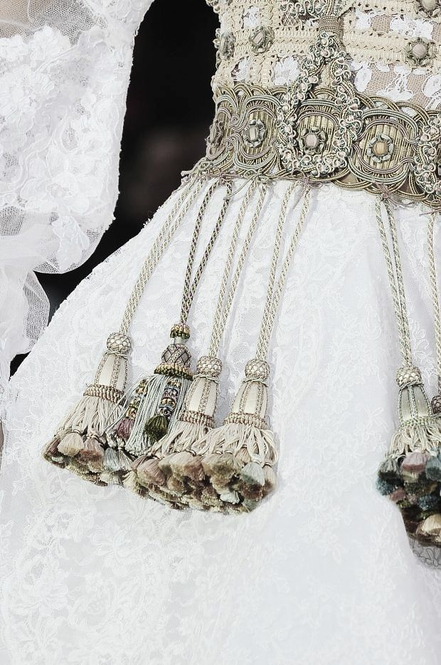 Tassel detail by Frank Sorbier Spring 2014 Haute Couture