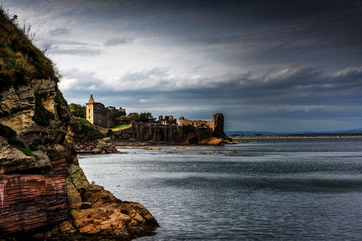 St Andrews coastline showing castle. By Alan Sinclair