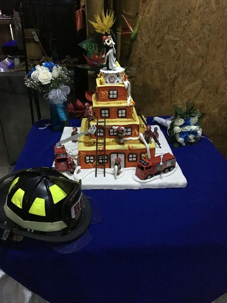Nuestra torta de bombero