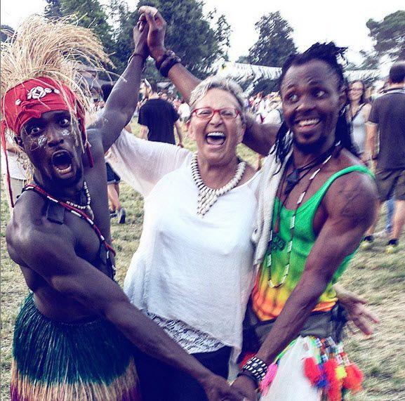 Avec mes frères bien aimés. Dotcha et Ziko. Super stars de la danse traditionnelle africaine. Togo.