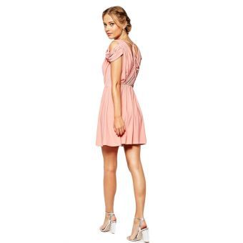 LOGin - Moda Cozy Bastante delgado vestido de dama de honor vestido strapless vestido de encaje - LOGin2886 - Rosa