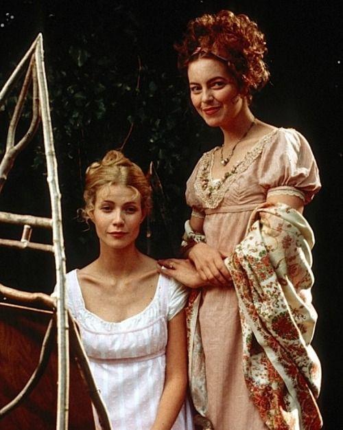 Gwyneth Paltrow as Emma Woodhouse and Greta Scacchi as Mrs. Weston in Emma - 1996