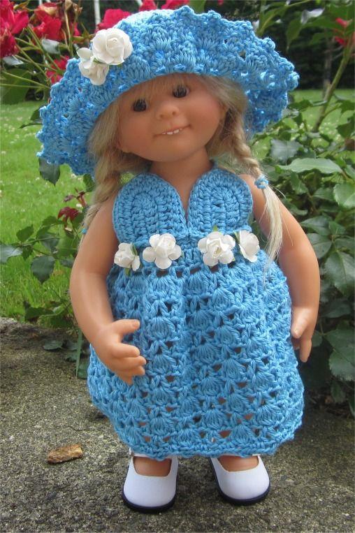 90- FICHE PATRON Tenue Reine des fleurs au crochet pour poupée Wichtel : Jeux, jouets par atelier-crochet
