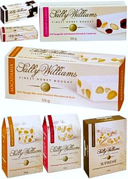 Sally Williams Fine Foods Honey Nougat Enter to win a selection of these fabulous nougats. $50 prize. WINNER SELECTED
