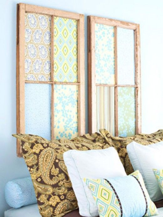 Old Window Panes Headboard