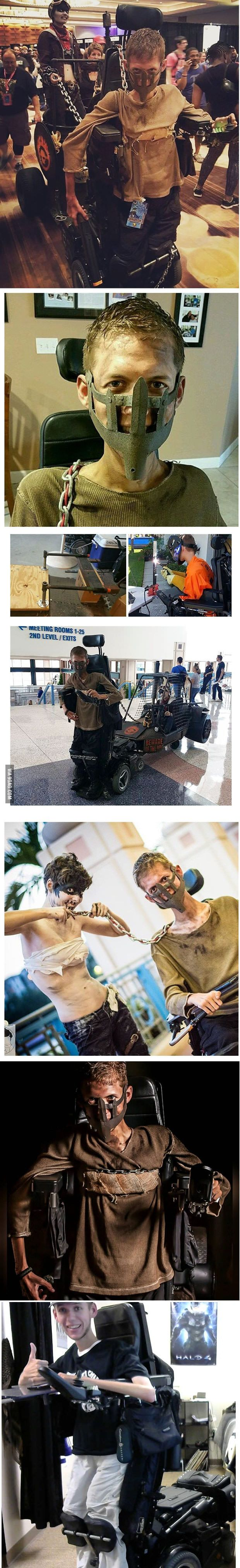 Disabled Student Turns His Wheelchair Into Epic Mad Max Cosplay!