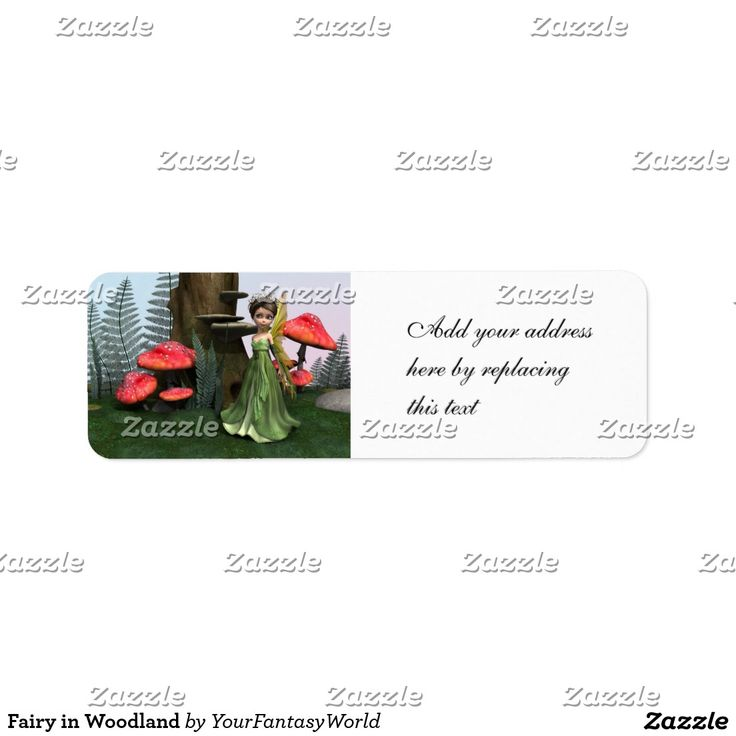 #Fairy in Woodland #Label