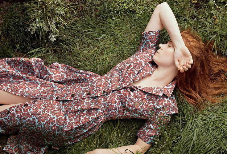 Эми Адамс — Фотосессия для «Vogue» 2014 – 1