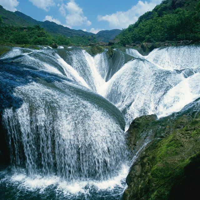 The Pearl Waterfall, in Sichuan, Jiuzhaigou, China    I feel a bit stupid now haha I always thought it was somewhere in South America