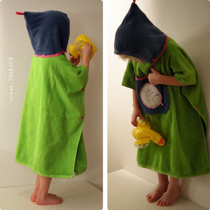 Badeponcho aus alten Handtüchern / Poncho made from old towels / Upcycling