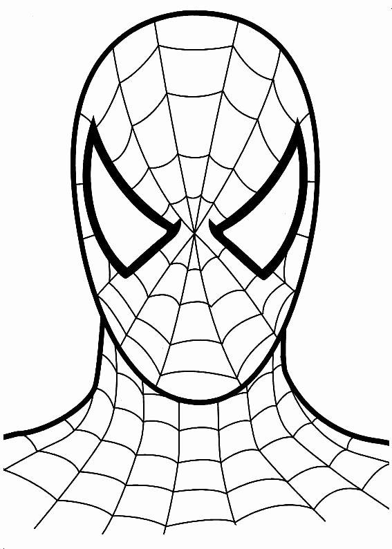 Spiderman Mask Coloring Pages Elegant Spiderman Man Coloring Pages I 2020 Fargelegging Gutterom